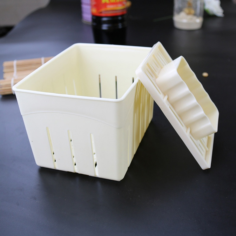Homemade Plastic Tofu Press Mould DIY Tofu Mold Soybean Curd Tofu Making Mold Cheese Molds Cheese Cloth Kitchen Cooking Tools image