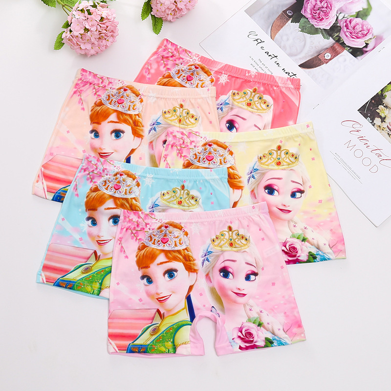 5pcs/lot Underwears For Girls Kids Baby Underwear Panties Infant Boxer Briefs Ice Princess Milk Silk Teenagers For 1-8 Y Panty