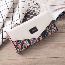 New Pastoral Small Floral Rhombus Ladies Hand-Contrasted Buckle Purse