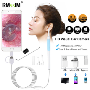 New 3 in1 HD Medical In Ear Cleaning Endoscope Spoon Mini Camera Otoscope Mouth Nose Otoscope Tool Ear Picker Ear Wax Removal