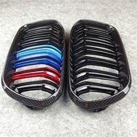 Carbon Front Grill For Bmw F20 F22 E46 E90 E92 F30 F34 F32 G30 E39 E60 F10 E84 F48 X3 X4 X5 X6 F06 F12 F01 F07 Dual LInes Grills