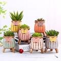 Набор керамический цветочный горшок для суккулентных растений горшок ваза креативный горшок офисное настольное украшение мясистое Растен...