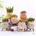 세트 세라믹 화분 다육 식물 화분 꽃병 크리 에이 티브 파종기 사무실 책상 장식품 다육 질 식물 화분걸이 홈 가든 장식