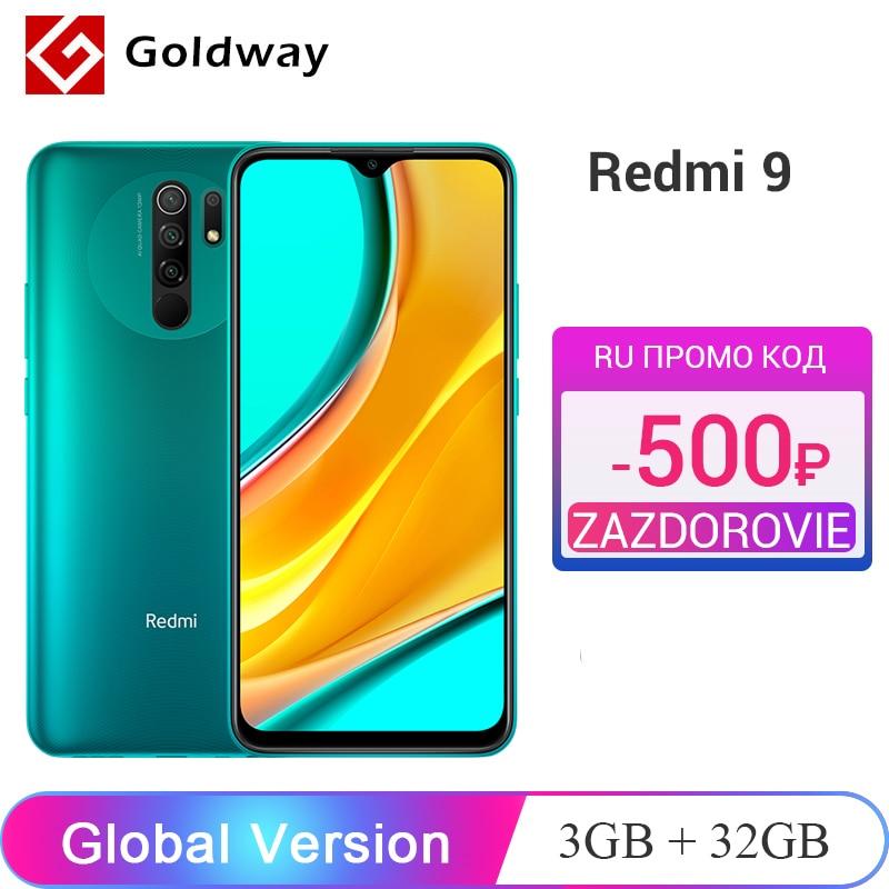 "Version mondiale Xiaomi Redmi 9 3 go 32 go/4 go 64 go Smartphone Helio G80 Octa Core 13MP Quad caméra 6.53 ""FHD + écran 5020mAh"