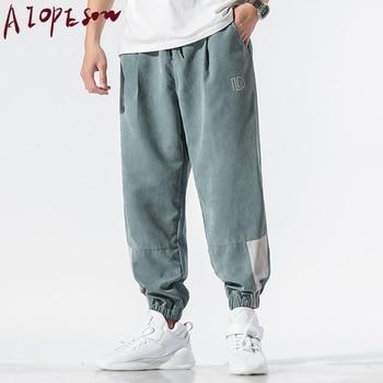Nuevos pantalones informales para hombre, pantalones holgados