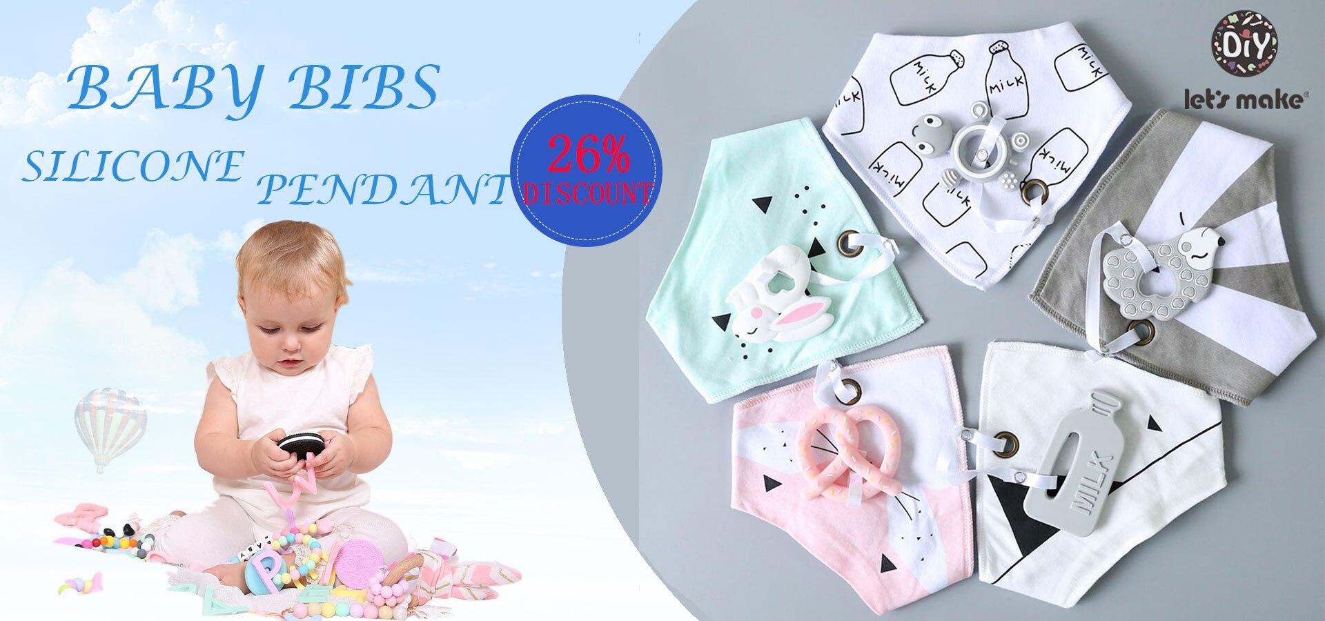 Let S Make Baby Stuff Bibs Burp Cloths 1pc Cotton Bib Cartoon