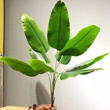 Grandes plantes artificielles de 82cm, bananiers tropicaux, feuilles de palmier, fausse plante branche en plastique, feuille verte, décoration de Jungle pour fête à la maison