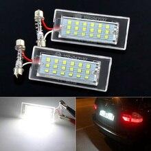 2 adet canbus LED numarası plaka işık hata ücretsiz beyaz BMW için X5 E53 1999 2006 X3 E83 2003 2010
