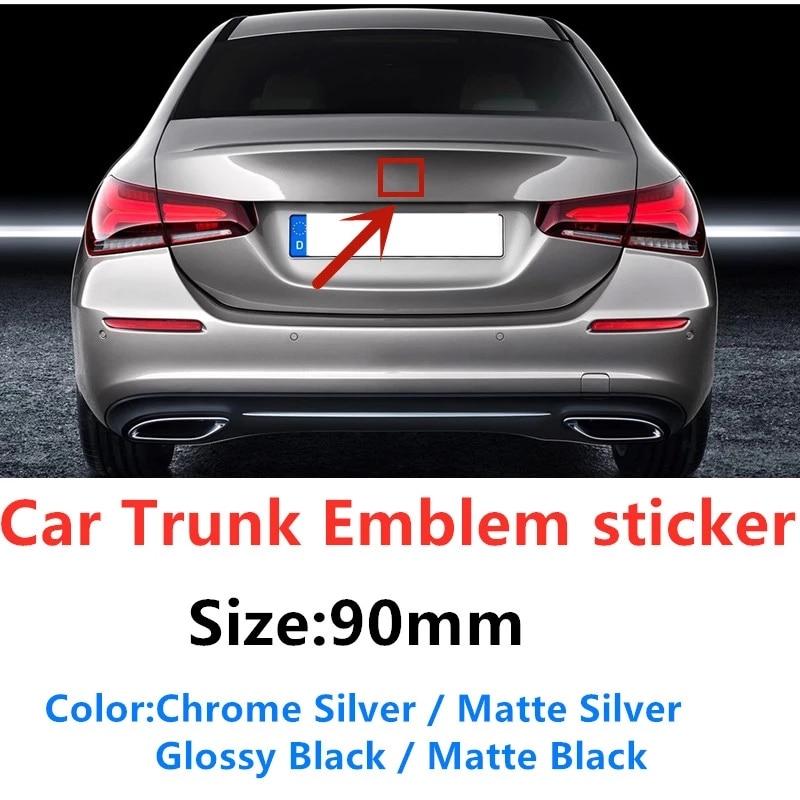 1 шт. 90 мм Автомобильный Стайлинг задний багажник Средний значок эмблема наклейка для Mercedes W203 W211 W204 W210 W124 W212 Cla W205 W202 W220 W213