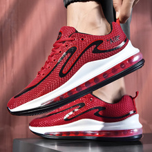 Street Style Graffiti Air Cushion Men Sneakers Walking Run Damping Soft Non-slip Casual Shoes Plus Size