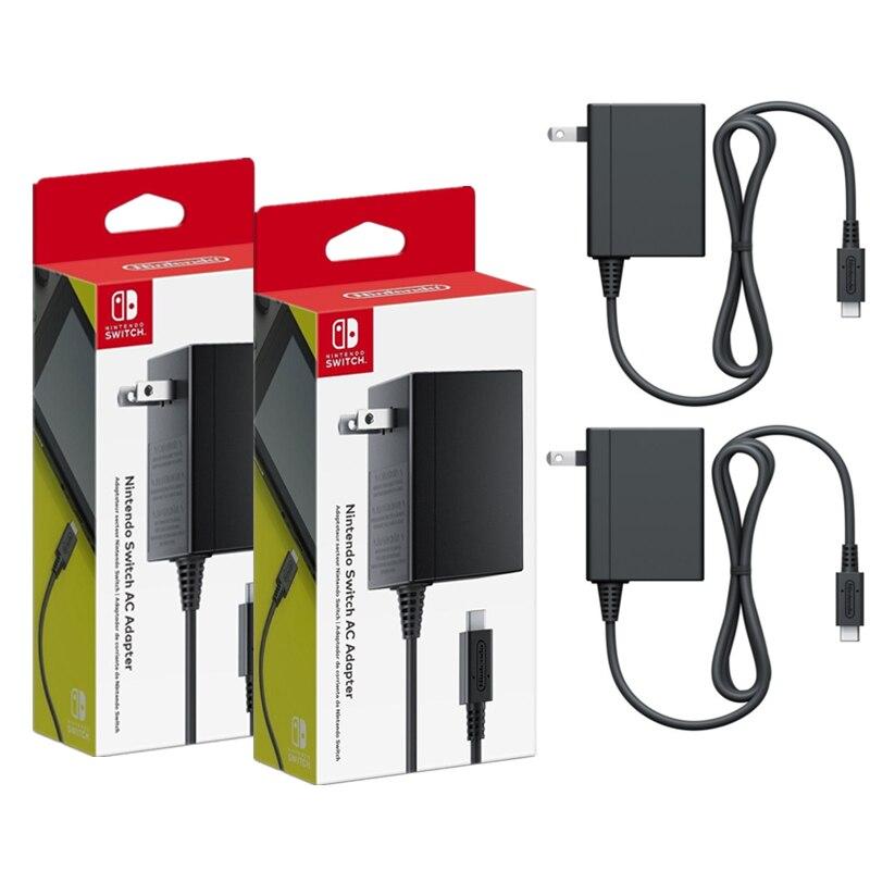 Original da ue Adaptador de Alimentação para Nintend Plug Gamepad Switch ns Lite Console Adaptador ac Usbc Tipoc Casa Viagem Carregamento Rápido 2x Eua