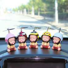 Car Toy Duck Pacifier Baby Doll Cute Kids With Helmet + Safe Helmet Cap for Car Dashboard Review Mirror Accessories Fun Decor
