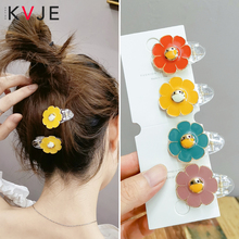 KVJE Flower Resin Hairpins for Women Hair Clips 2Pcs HOT SALE Low Price Accessories Girls Bows