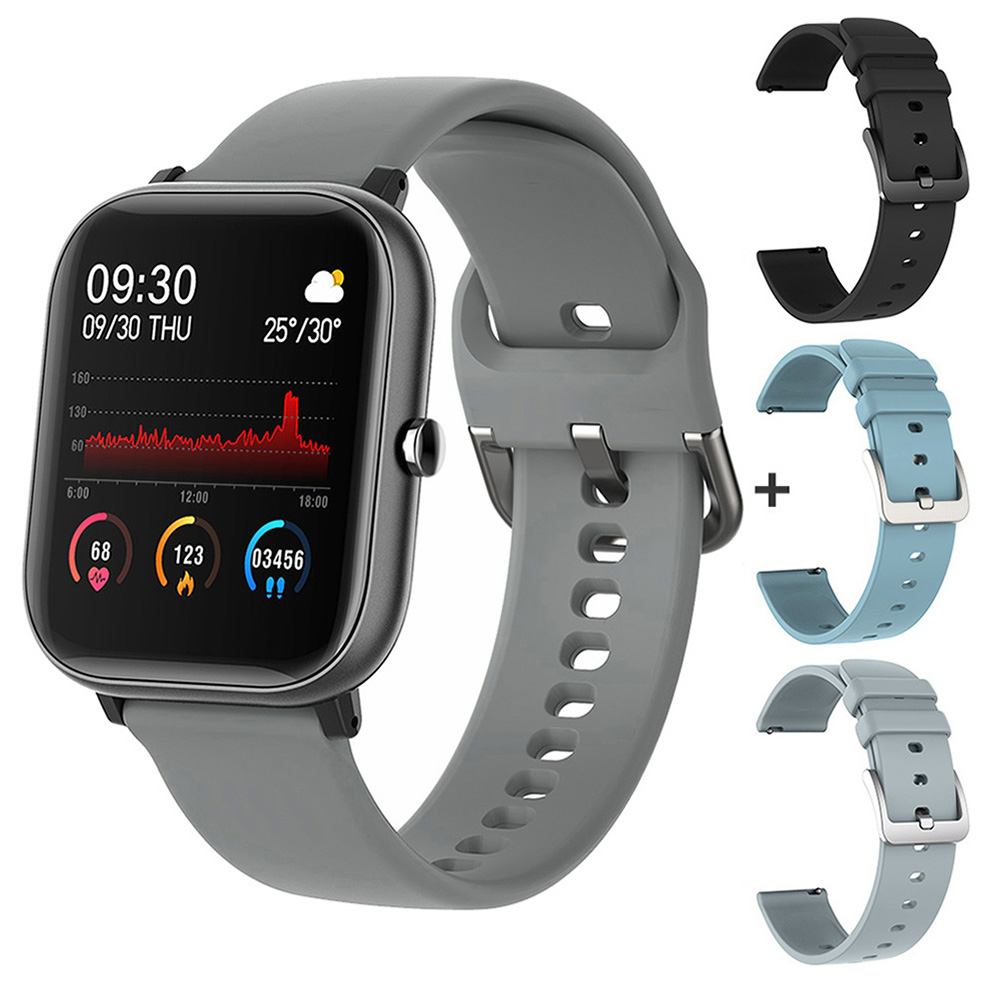 gray with 3 straps