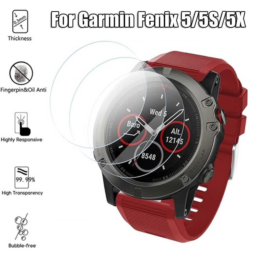 2019 Tempered Glass Watch Screen Protector 9H Real Full Coverage Film Smart Phone Accessories For Garmin Fenix 5 Series