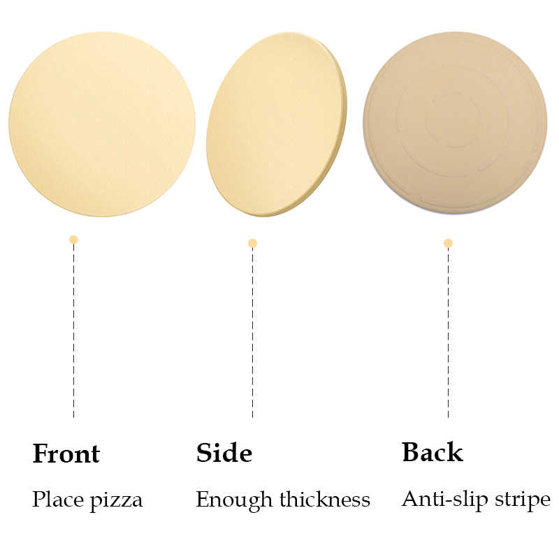 Herramienta para asar Pizza, piedra para hornear, barbacoa, cordierita, piedra para Pizza, bandeja para hacer Pizza resistente al calor para horno