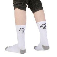 Женские спортивные носки, Фитнес Бег Йога, носки с буквенным принтом, спортивные носки