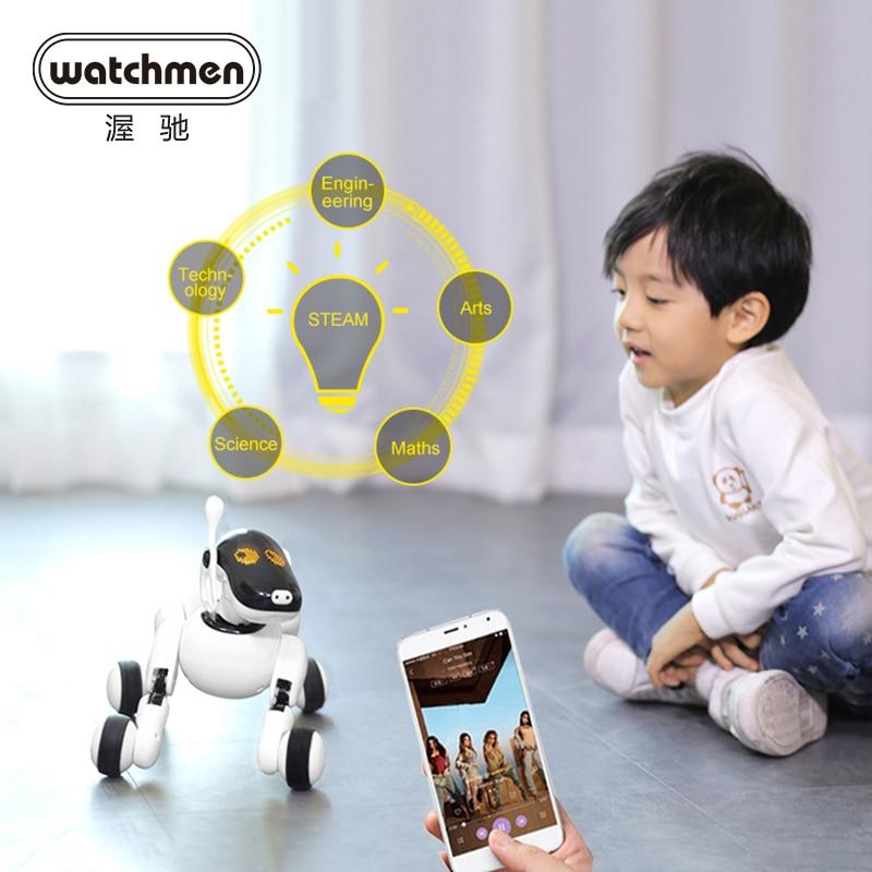 AI robot toy interactive dog electric walk intelligent robot smart technology electronics puppy go APP control Bluetooth Music RC Robot  - AliExpress