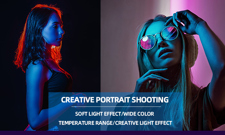 H8e2e77af79da42e8a9202c9dbf3362e2G soonpho RGB LED Camera Light Full Color Output Video Light Kit Dimmable 2500K-8500K Bi-Color Panel Light CRI 95+