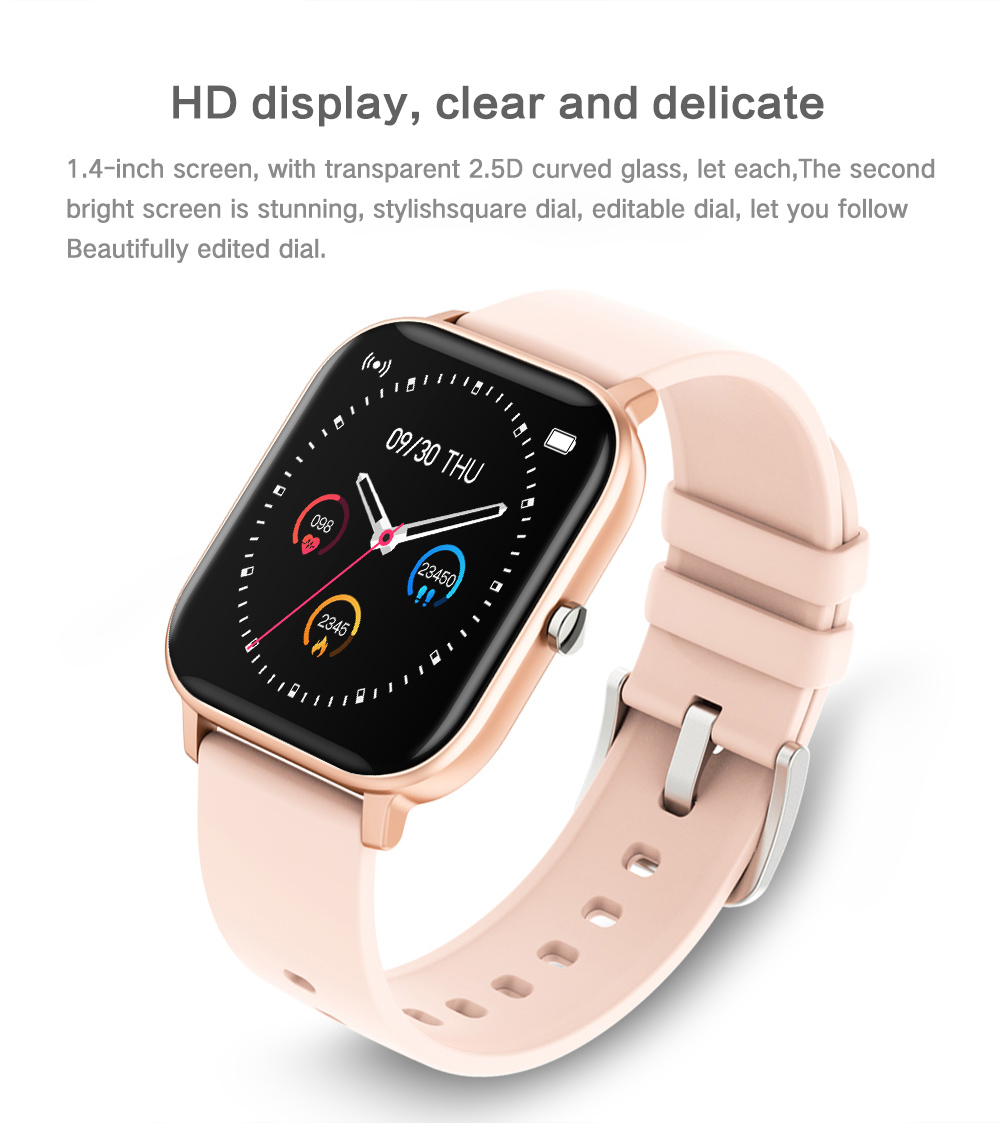 H8e2e781b1f10429f862734226ff15a53f 2021 New P8 Color Screen Smart Watch Women men Full Touch Fitness Tracker Blood Pressure Smart Clock Women Smartwatch for Xiaomi