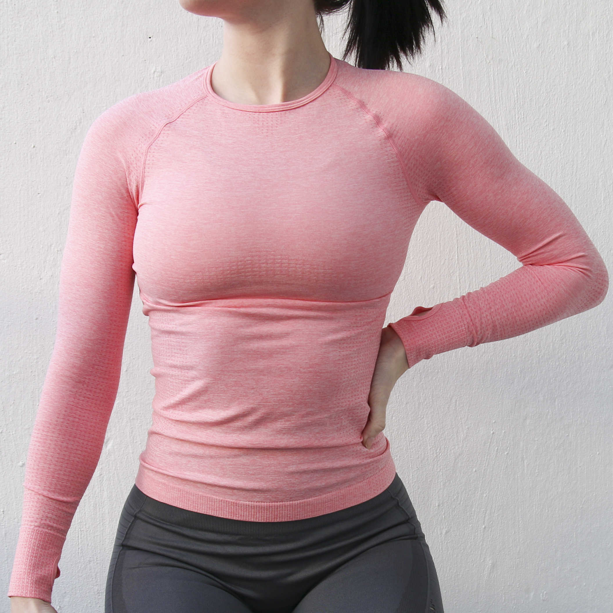 Nepoagym Women High Stretch Comfort Sport Seamless Long Sleeve Top Women Gym Tops Fitness Women Sexy Shirt Women Jersey