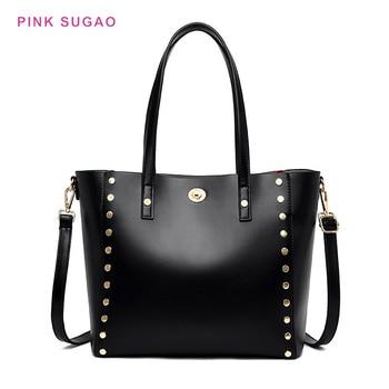 Pink Sugao luxury handbags women bags designer women shoulder bag leather purse handbag fashion bags for women 2019 tote bag new