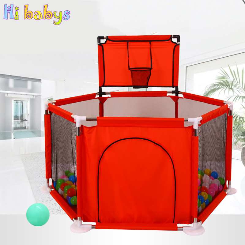 Baby Playpen Fence For Children Folding Safety Barrier Oxford Cloth Game Tent For Infants Playing And Learning To Walk
