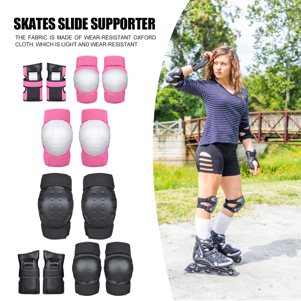Portable Skateboard Knee Elbow Pads Protective Gear Set Ice Roller Skating Guard for Easy Safety Exercise Accessories