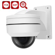 IMPORX Mini 2.5 inch 5MP POE 3X ZOOM PTZ IP CAMERA 2592*1944P Super HD Dome Network IP Camera P2P CCTV Security Camera H.265