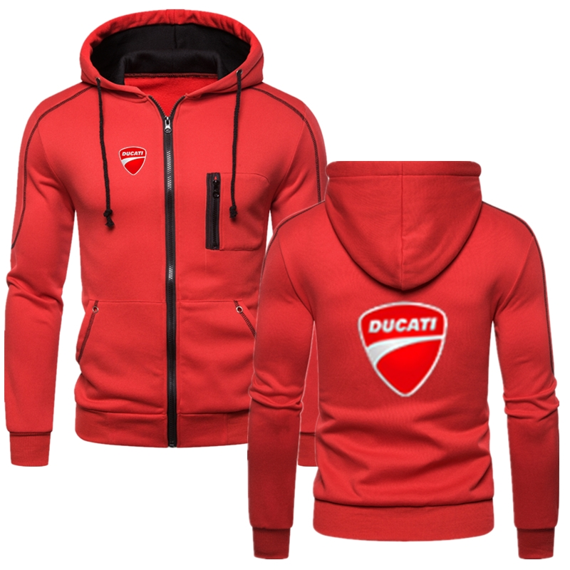 Ducati Car LOGO Leisure Hoodie Muscle Male Clothes Anime Winter Autumn England Style Hip Hop Warm Fitness Tops Fast Delivery
