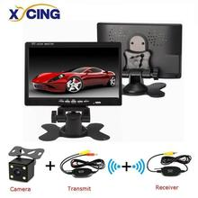 Universal 7 #8221 800*480 Color TFT LCD Car Monitor Display Wired Cameras Reverse Camera Parking System for Car Rear view Monitors cheap XYCING 30*20*13 RVC093*800 In-Dash 800x480 1000g car monitors 7 inch vehicle backup cameras Rear View Camera accessories