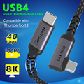 Coaxial USB C Thunderbolt 3 cable Type C USB4 cable PD 100W 8K@60Hz 40Gbps Data Transfer fast charge for Samsung Macbook IPad