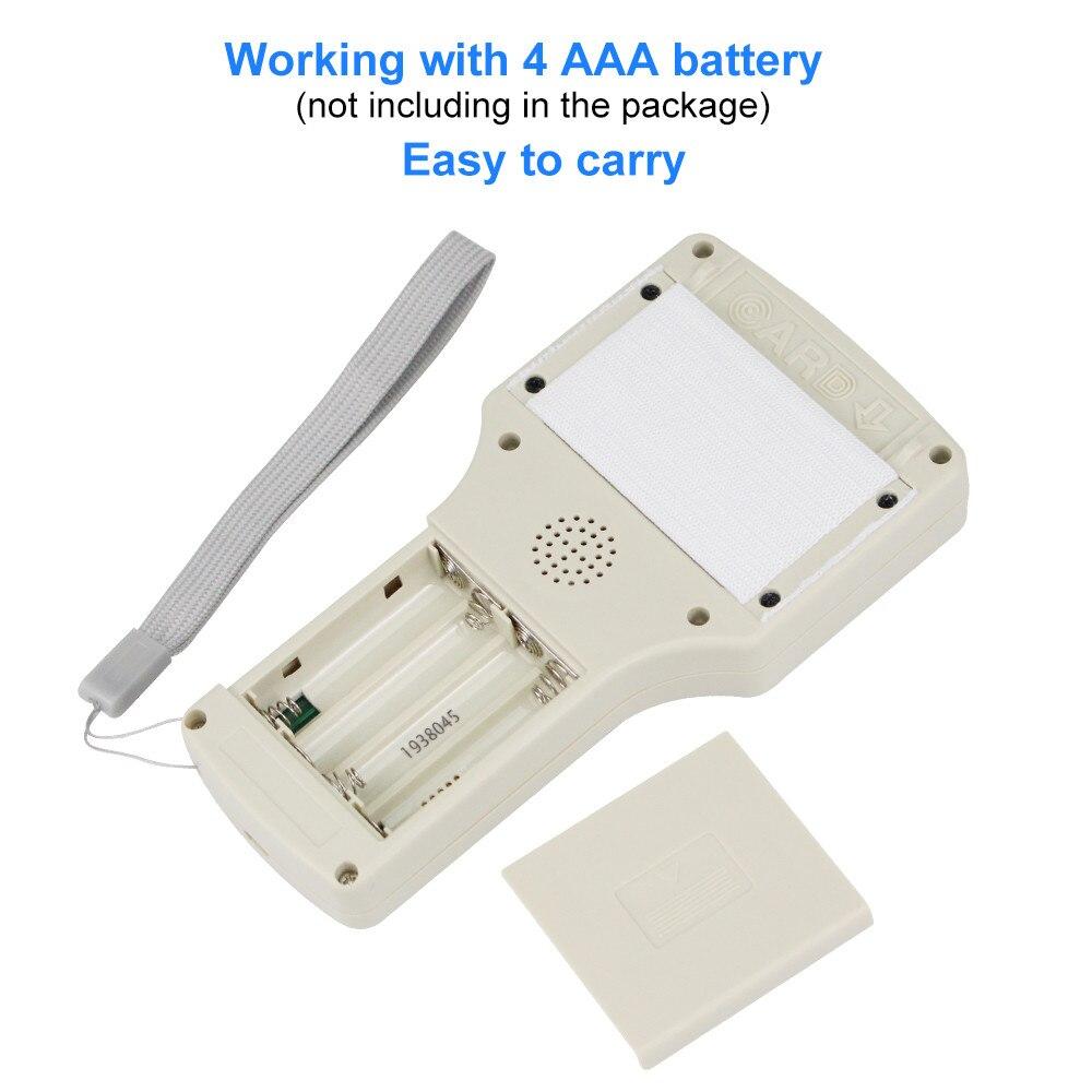 10 English Frequency RFID Copier Duplicator 125KHz Key fob NFC Reader Writer 13 56MHz Encrypted Programmer 10 English Frequency RFID Copier Duplicator 125KHz Key fob NFC Reader Writer 13.56MHz Encrypted Programmer USB UID Copy Card Tag