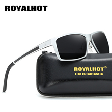 RoyalHot Men Women Polarized Aluminum Magnesium Rectangle Sunglasses Driving Sun Glasses Shades Oculos masculino Male 900p66