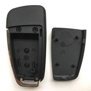 Image 5 - 3 boutons étui à clé à distance pour VW VolksWagen Skoda siège Bora Pasha AUDI A6 remplacement voiture pliable clé porte clés coquille