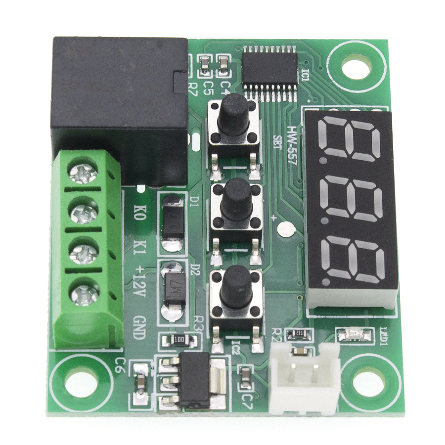 50PCS W1209 DC 12V heat cool temp thermostat temperature control switch temperature controller thermometer thermo controller