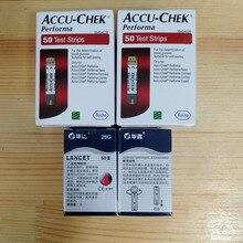 100pcs ACCU CHEK Performa דם גלוקוז מבחן רצועות תפוגה 31th.07.2021 סטרילי מגבת יד sanitizer אלכוהול Pad