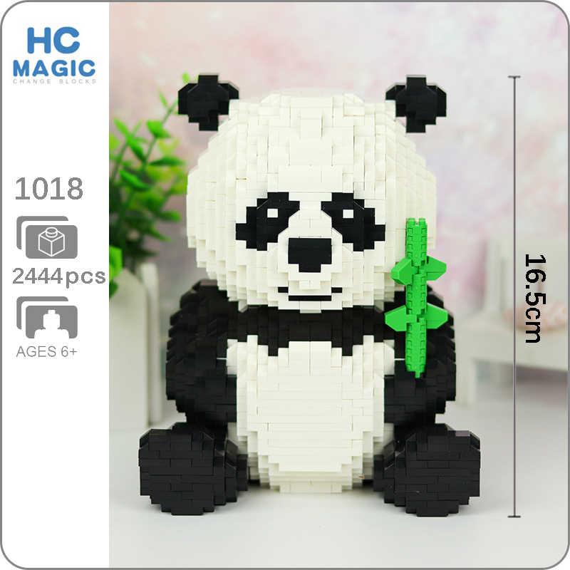 Hc 1018 Dessin Animé Ours Chat Panda Animal Animal Modèle 3d 2444 Pièces Bricolage Diamant Mini Construction Petits Blocs Briques Assemblage Jouet