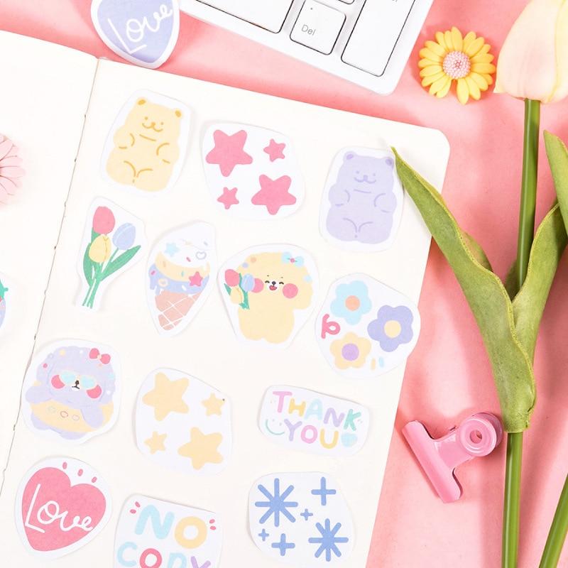 Mohamm 1 коробка стикер маленькая свежая девочка DIY Материал Скрапбукинг Канцтовары Школьные принадлежности