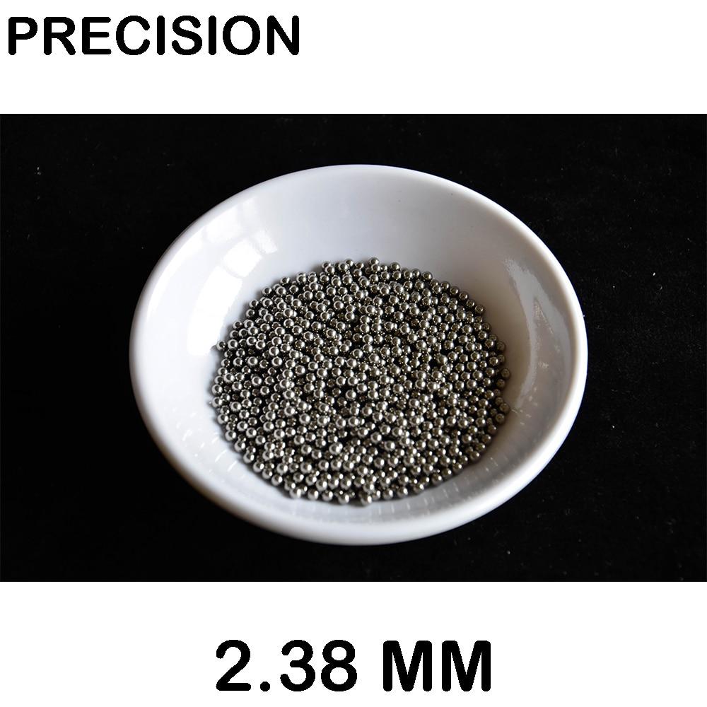 1000pac High Quality 2.38mm Chrome Ball High Precision  AISI 52100  Bearing Ball Impact Test .steel Ball No Magnet
