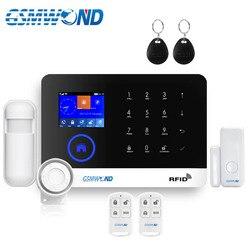 Sistema de Alarme sem fio Home do Assaltante GSM GPRS Wifi Russo Inglês Espanhol Francês Italiano Alemão Polonês Cartão RFID Android IOS APP