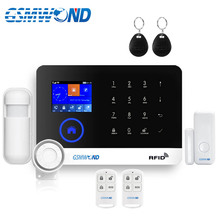 Wireless Home Burglar Wifi GSM GPRS Alarm System English Russian Spanish German Polish Italian French RFID Card Android IOS APP