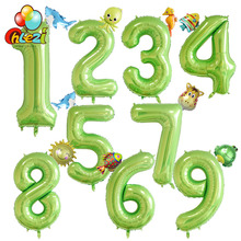 2pcs Number Animal ballon Baby shower Birthday Party