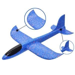 Image 5 - ขายร้อน DIY 35 ซม.LED มือโยนแสง Flying GLIDER เครื่องบิน GLOW In The Dark ของเล่นโฟมเครื่องบินชุดของเล่นเด็ก