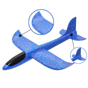 Image 5 - Hot Sale DIY 35cm LED Hand Throw Lighting up Flying Glider Plane Glow In The Dark Toys Foam Airplane Model Toys For Children