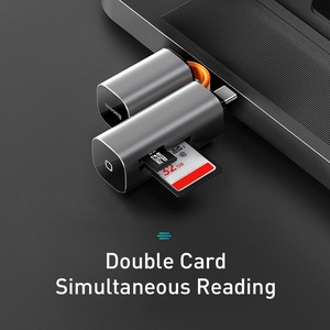 Image 5 - Baseus 2 in 1 Kartenleser USB 3,0 Typ C zu SD Micro SD TF Adapter für PC Laptop OTG kartenleser Smart Memory Microsd Kartenleser