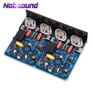 Image 1 - Nobsound hi fi 2 pcs 파워 앰프 보드 quad405 알루미늄 각도의 2.0 채널 앰프 보드 mj15024