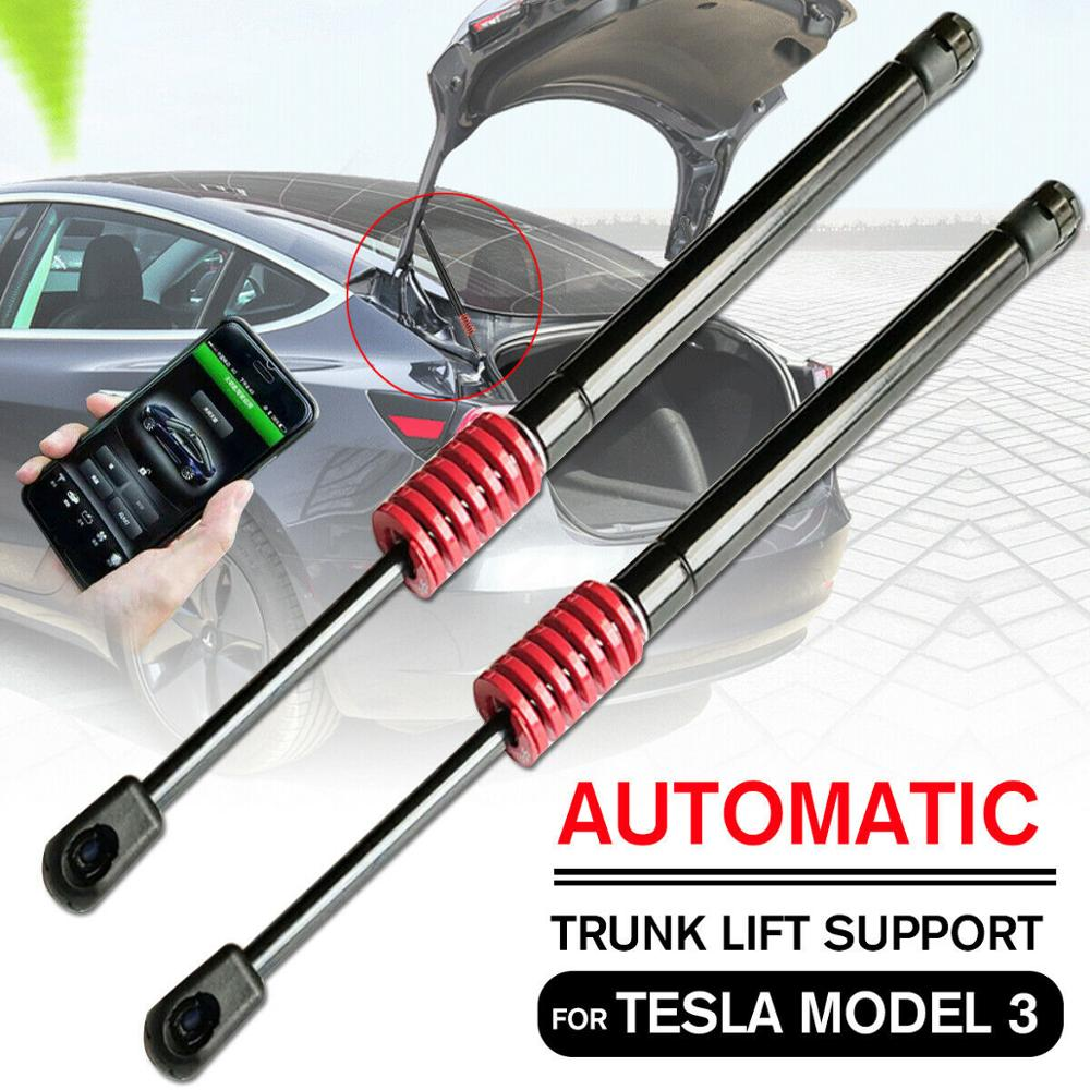 For Tesla Model 3 Automatic Trunk Lift Support Pneumatic Rear Trunk Struts Kit Car-Styling Repair Replacement Parts Accessories
