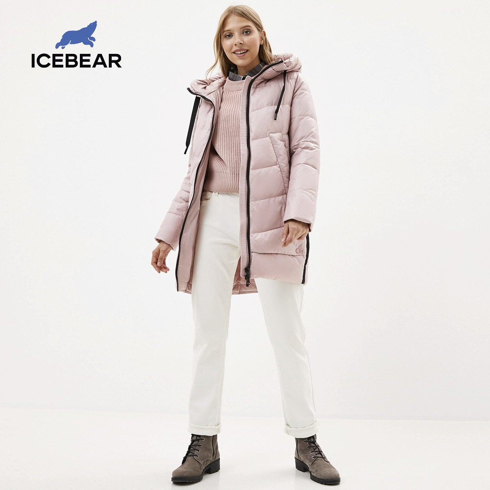 icebear 2020 new winter women's coat hooded female warm cotton jacket winter ladies parka brand clothing GWD20282I|Parkas| - AliExpress