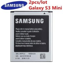 2 шт./лот Новинка, оригинал, Samsung, запасная батарея, батарея для Samsung Galaxy S3 мини i8160 i8190 i8200 1500 мА/ч, EB-F1M7FLU GT-S762 GT S762